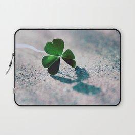 Green Clover Shadow Laptop Sleeve