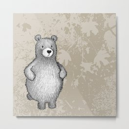 grizzly bear in foliage Metal Print