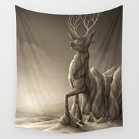 titan Wall Tapestries featuring Revenge of the Nature: Guardian of the Earth by Rafapasta
