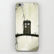 Tardis in the forest iPhone Skin