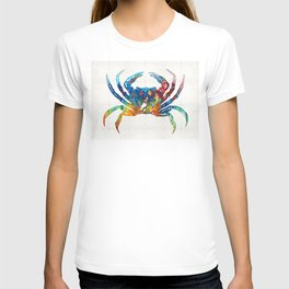 Colorful Crab Art by Sharon Cummings T-shirt