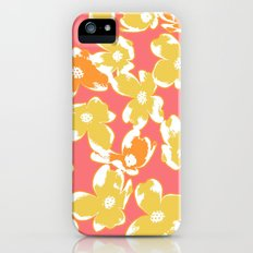 Dogwood Floral: Peach Corals Combo iPhone (5, 5s) Slim Case