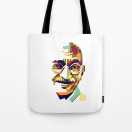 Mahatma Gandhi in colorful popart style Tote Bag