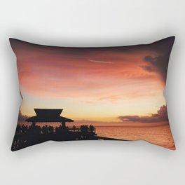 Pink Sky at Naples Pier Rectangular Pillow