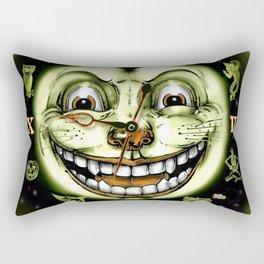 Black Cat 13 Halloween Clock Rectangular Pillow
