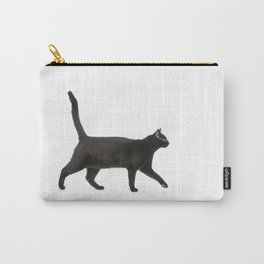 Black cat walking Carry-All Pouch