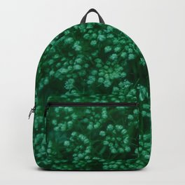 Green Queen Anne's Lace (Up Close) Backpack