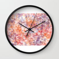 sprinkles Wall Clocks featuring Sprinkles by Flavia Dacol