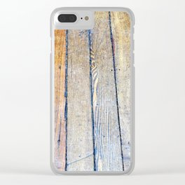 Floorboards Clear iPhone Case