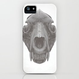 Grizzly Skull iPhone Case