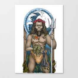 The God Poseidon Canvas Print