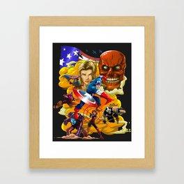 capt america Framed Art Print
