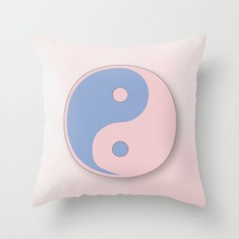 Ying Yang serenity blue and rose quarz Throw Pillow