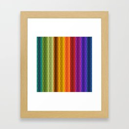 Jewel Tone Color Stripes Framed Art Print