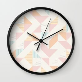 Geometry Triangles  Wall Clock