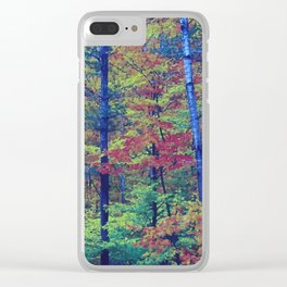 Forest - with exaggerated colors Clear iPhone Case