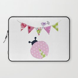 Ladybug with party flags Laptop Sleeve
