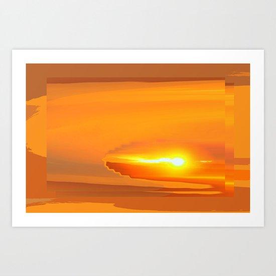 Sunrise Pollen Art Print