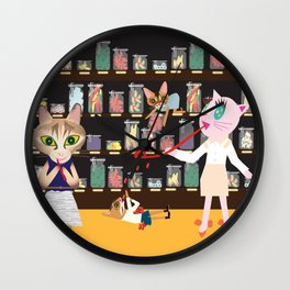 FASHIONISTA CAT CANDY STORE Wall Clock