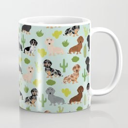 Dachshund cactus southwest dog breed gifts must have doxie dachsies Coffee Mug