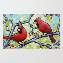 Two Cardinals Rug