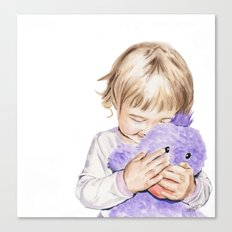 Sophie & Billy. Watercolor painting. Canvas Print