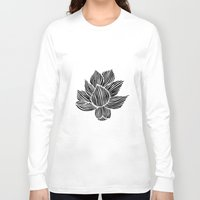 lotus flower Long Sleeve T-shirts featuring Lotus by MollySkipsey