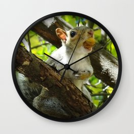 Too stuffed to chatter Wall Clock