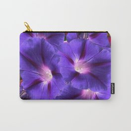 PURPLE MORNING GLORIES FLORAL ART Carry-All Pouch