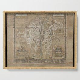 Jacques Gomboust - Map, Plan and Descriptions of Paris (1652) Serving Tray