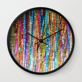 Rainbow Mosaic Wall Clock