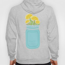 Geometric Mason Jar with Flowers Hoody