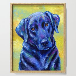 Colorful Labrador Retriever Dog Serving Tray