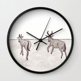 Oryx Antelopes - Namibia Wall Clock