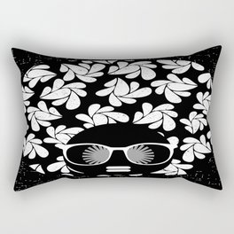 Afro Diva : Black & White Rectangular Pillow