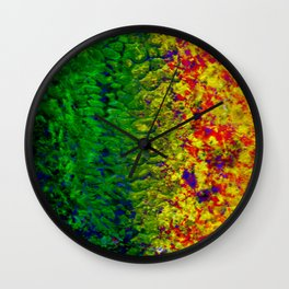 Oozing Colors Wall Clock