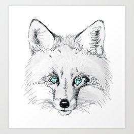 diamond eyes Art Print