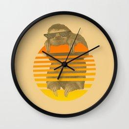 Chill - Sloth Wall Clock