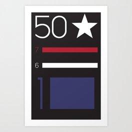 Anatomy of a Flag: 'Merica Art Print