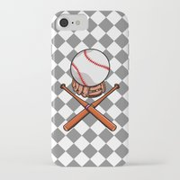 baseball iPhone & iPod Cases featuring Baseball by mailboxdisco