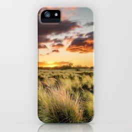 Sunset Lava Field Big Island Hawaii iPhone Case