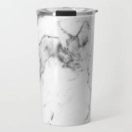 White Marble I Travel Mug