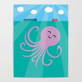 Octopus Selfie Poster