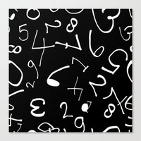 numbers Canvas Prints featuring numbers by beautifyprints