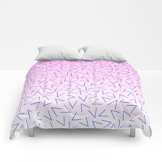 80's Pattern Gradient Comforters