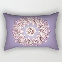 Flower Bud Mandala Rectangular Pillow
