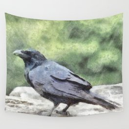 Crows Everywhere Are Equally Black Wall Tapestry