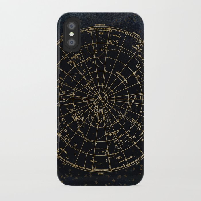 golden star map iphone case