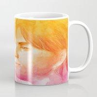 valentine Mugs featuring Valentine by Aurora Wienhold