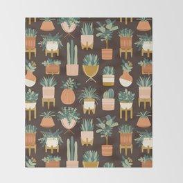 Cacti & Succulents Throw Blanket